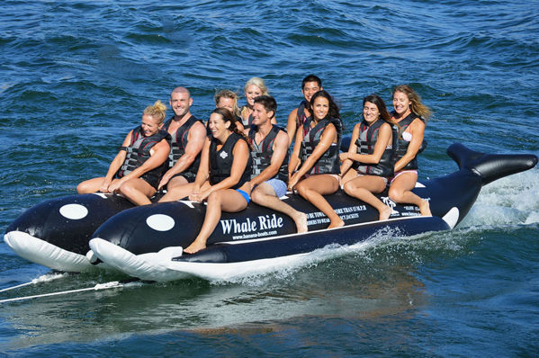 Picture of Island Hopper Whale Ride Elite Class Side-to-Side Heavy Commercial Water Sled -10 Person