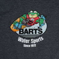 Picture of Bart's Distressed Wakeboard Logo Unisex Tee