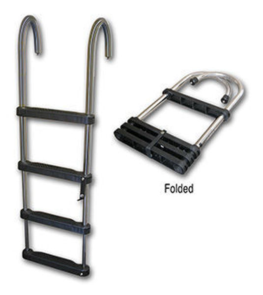 Picture of 4-Step Removable Telescoping Pontoon Ladder