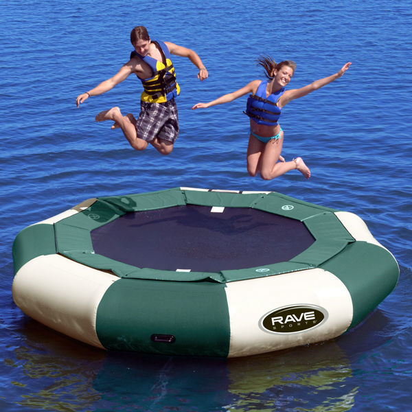 Picture of Rave Sports 12' Eclipse Aqua Jump Northwoods Water Trampoline