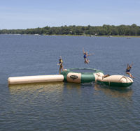 Picture of Rave Sports 15' Northwoods Aqua Jump Water Trampoline Park