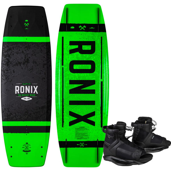 Picture of Ronix District Kid's Wakeboard w/ Divide Boots - 2021