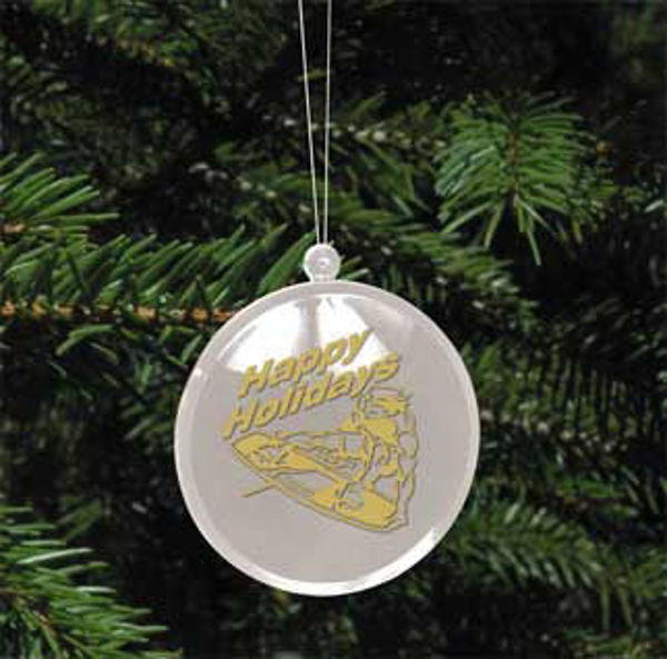 Picture of Wakeboard Acrylic Christmas Ornament