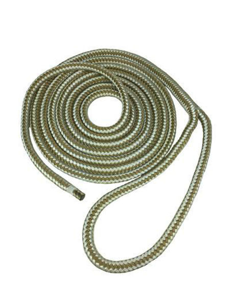 """Picture of Dock Line 1/2"""" X 15' - Gold Braid"""