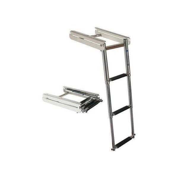 Picture of Under Platform 3-Step Sliding Ladder - Stainless Steel