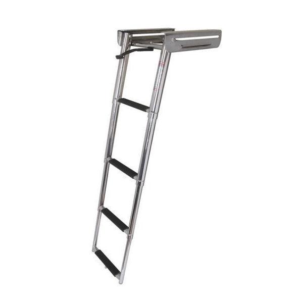 Picture of Under Platform 4-Step Sliding Ladder - Stainless Steel