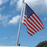 """Picture of Stainless Steel Deluxe Boat Flag Pole - 24"""""""