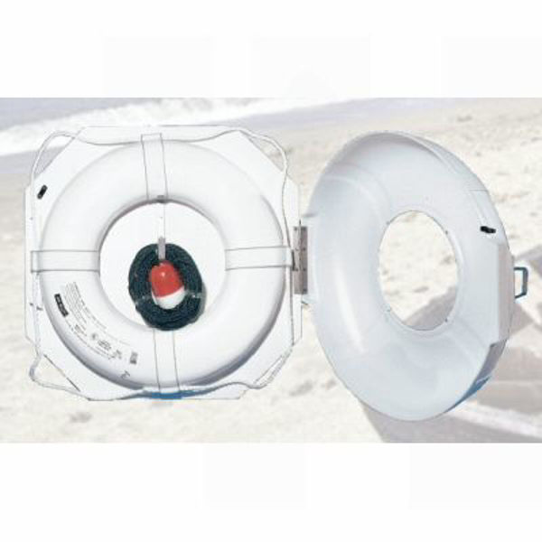 """Picture of 24"""" Life Ring Buoy with Cabinet"""