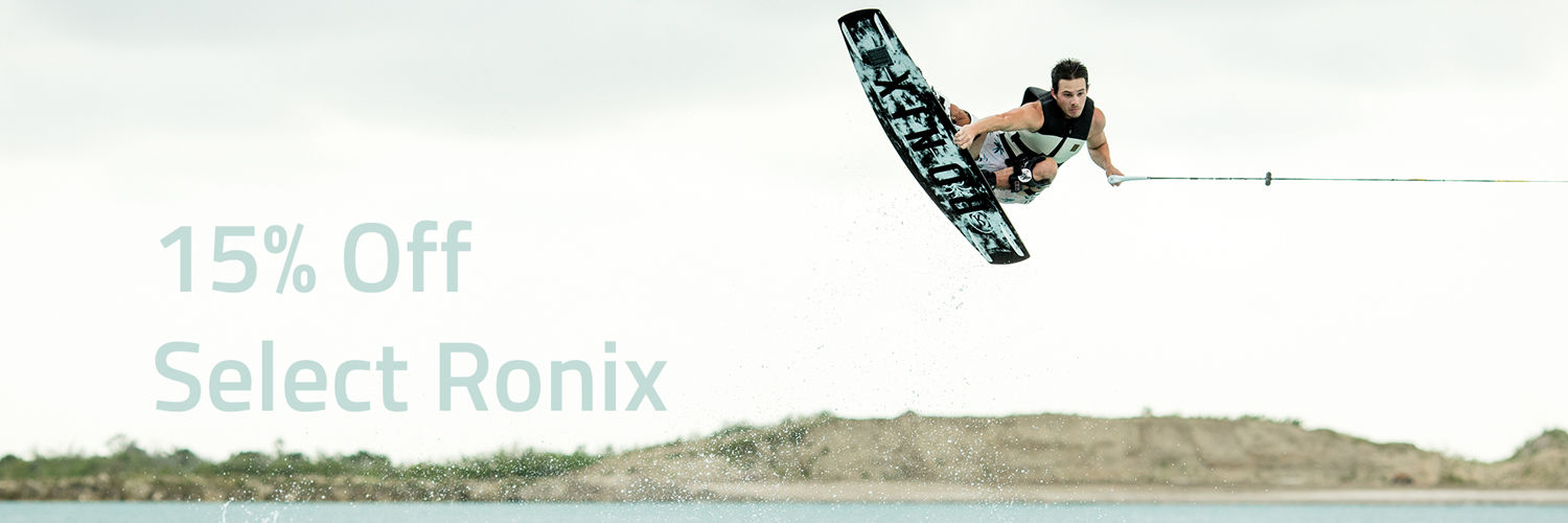 15% off ronix wakeboard banner